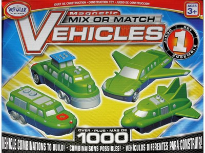 Mix or match Vehicles Set 1 magnetic