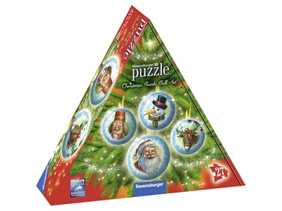 Christmas Puzzle-Ball-Set - 4 stk. 3D kugler