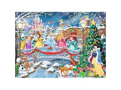 Disney Princesses Christmas holiday with Glitter
