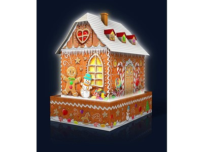 Gingerbread House - Night Edition - 3D