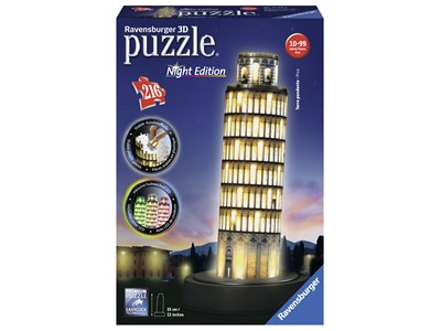 Pisa Tower, Night Edition 3D, 216 brikker