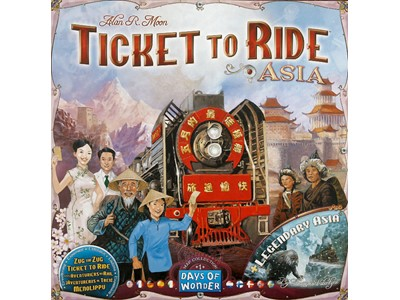 Ticket to ride Asia and Legendary Asia - Danske spilleregler