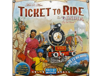 Ticket to ride India and Switzerland - Danske spilleregler