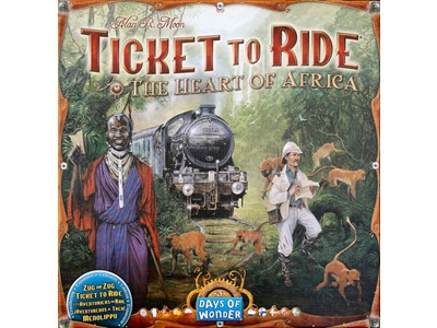 Ticket to Ride. The Heart of Africa - Ticket to Ride Map Collection 3. Danske