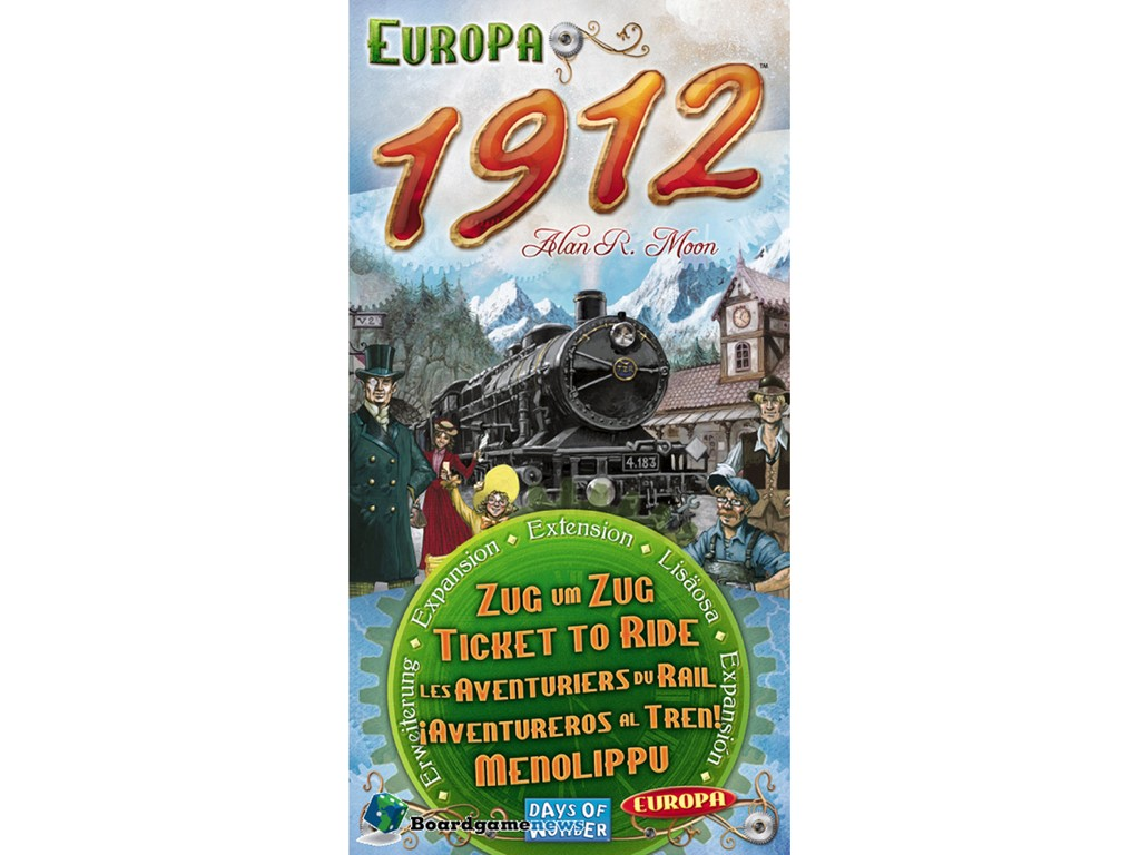 Ticket to Ride Europa 1912 - Udvidelse til Ticket to Ride