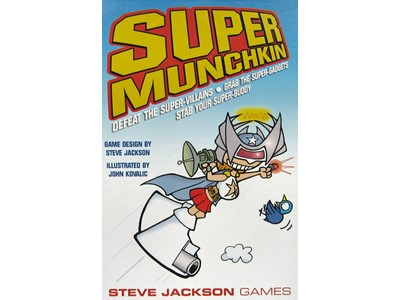 Munchkin Super - Defeat the Super-Villains - grab the Sup