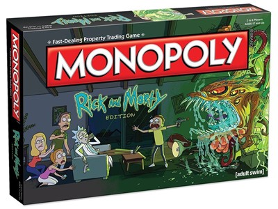 Monopoly Rick and Morty (adult swim)