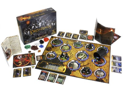 The Lord of the Rings Nazgul Board Game - Mordor. Shire. Baggins.