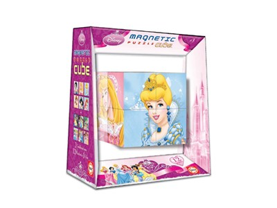 Disney Prinsesses. 2 Combinations. 12 pu - Magnetic Puzzle Cube