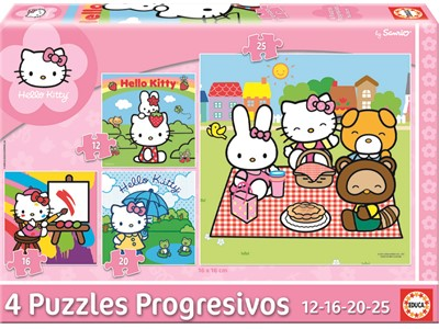 Hello Kitty.4 puzzles in 1