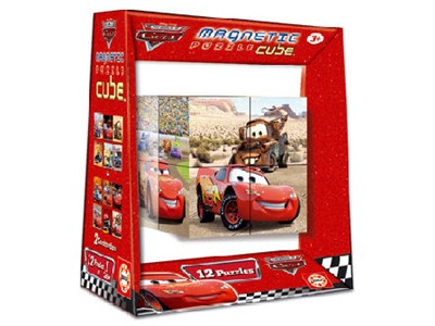 Disney Cars. 2 Combinations. 12 puzzles  - Magnetic puzzle Cube