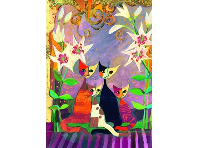 Rosina Wachtmeister Lilies med guldtryk