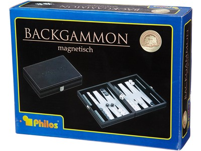 Backgammon magnetisk grå Philos