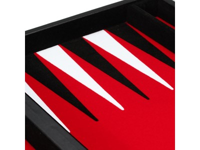 Backgammon rød - Philos