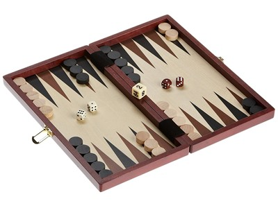 Backgammon  Philos Træspil brun