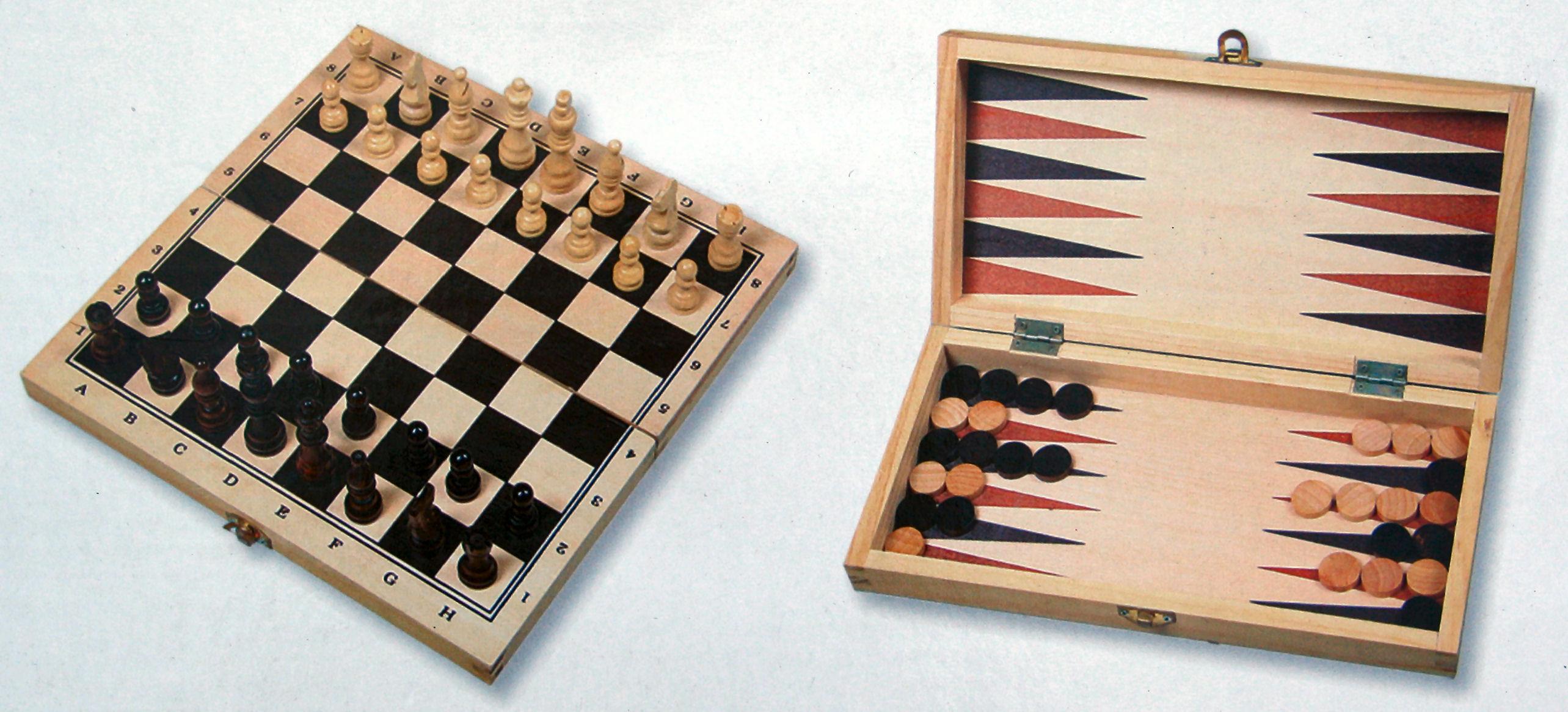 backgammon brætspil i træ