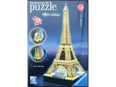 Tour Eiffel Paris Night Edition Ravensburger - 216 brikker