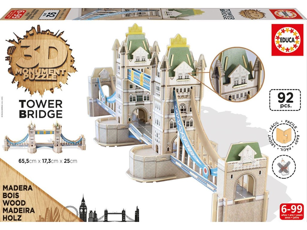 3D Tower Bridge i træ
