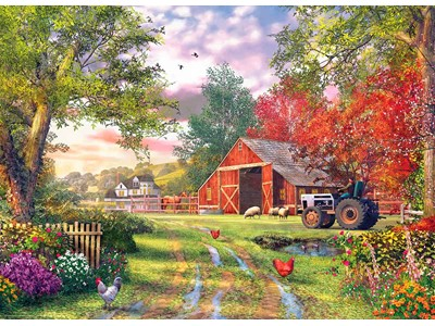 Evening at the Barnyard by Dominic Davis