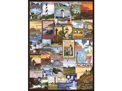 Lighthouses - Vintage Posters