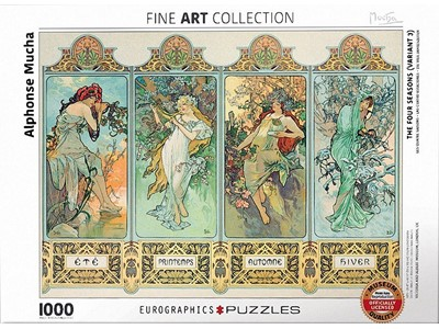 The four Seasons - Alphonse Mucha