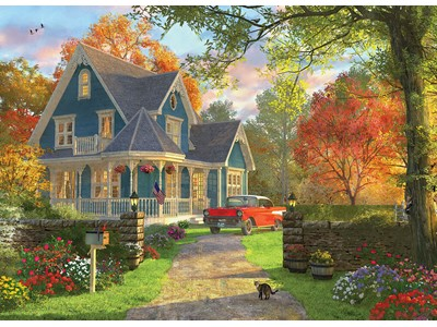 The blue Country House by Dominic Daviso
