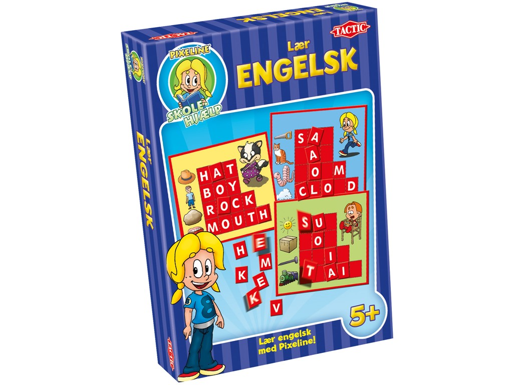 Pixeline Lær engelsk - Spillehulen