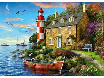 Lighthouse Keepers Cottage by Dominic Davison