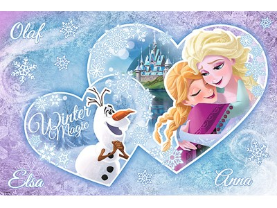 Frozen Magic Decor Glow in the dark Anna, Elsa & Olaf