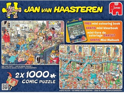 New year Party / Santas Factory / mini colouring book Jan van Haasteren