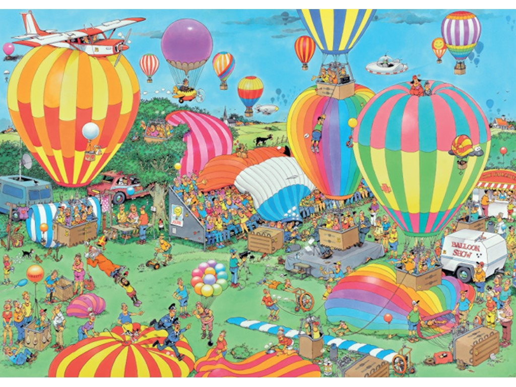 The Balloon Festival - Jan van Haasteren