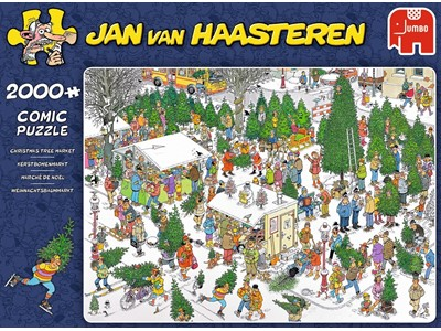 Christmas Tree Market - Jan van Haasteren