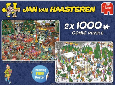 Christmas Dinner / Christmas Tree Market - Jan van Haasteren