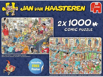 New Year Party - Santa's Factory - Jan van Haasteren