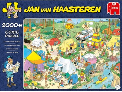 Camping in the Forest - Jan van Haasteren