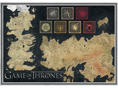 Game of Thrones Map of The Known World