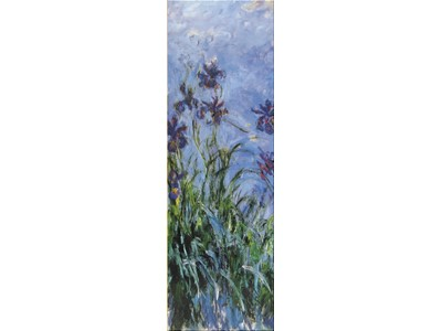 Monet Iris Mauves 1914-1917 Panorama