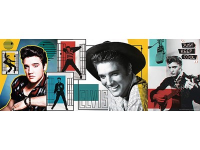 Elvis Presley Collage - Panorama