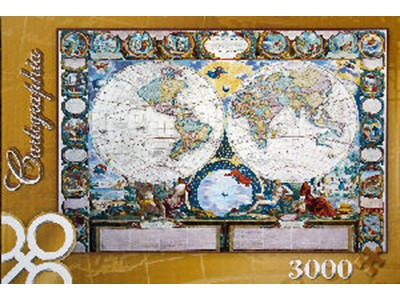 A Map of the Earth 1949 - Trefl - 3000 brikker