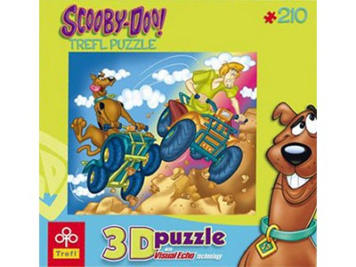 Scooby-Doo and Shaggy  - Trefl - 210 brikker.  Visual Echo Puzzle