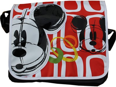 Messengerbag Mickey Rød