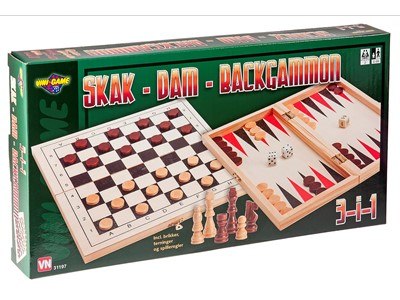 Skak, Dam og Backgammon